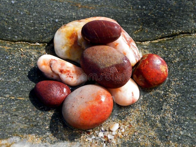 色的海滩小卵石 图库摄影