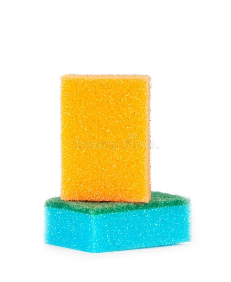 色的海绵的图象 免版税库存图片