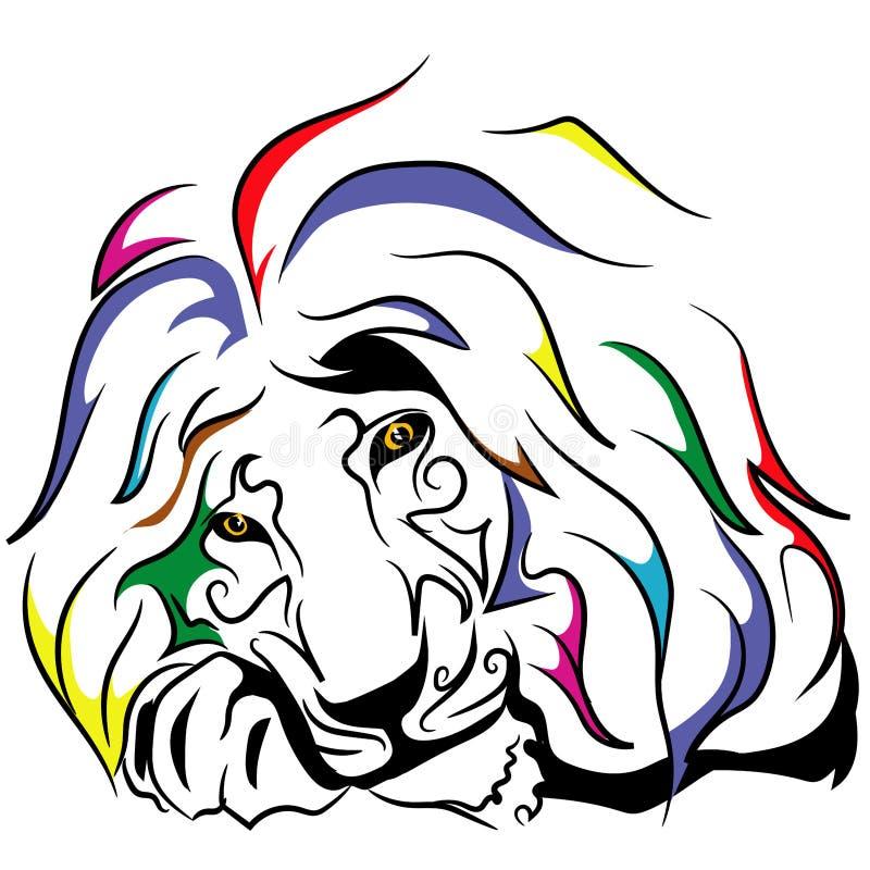 色的狮子 免版税库存图片