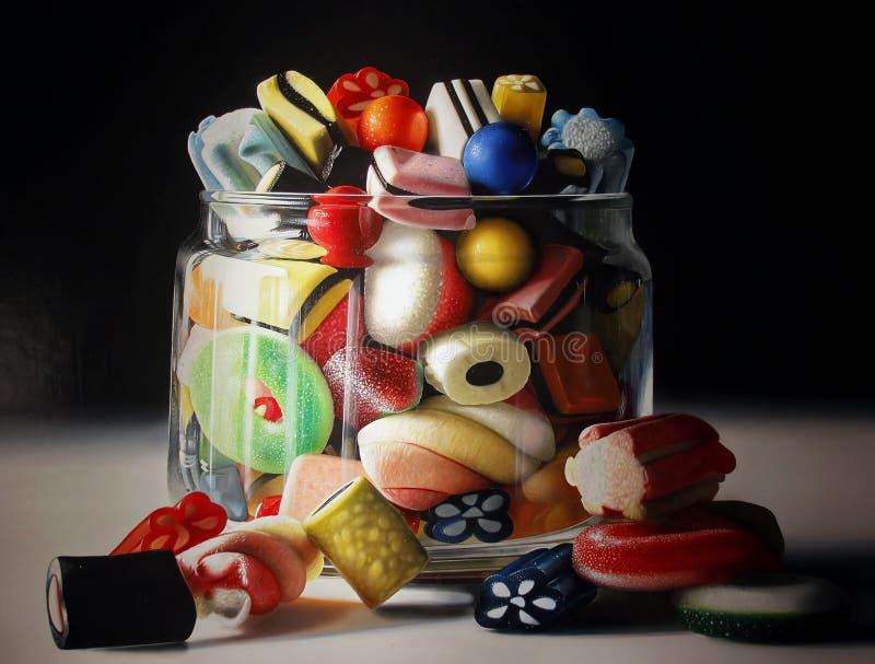 色的甜candys 库存图片