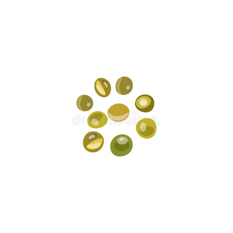 色的石头,珍贵的宝石,玻璃球,法国绿色, 向量例证