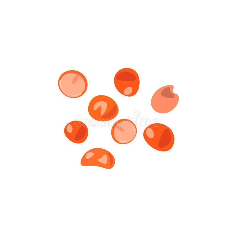 色的石头,珍贵的宝石,玻璃球,红色 库存例证