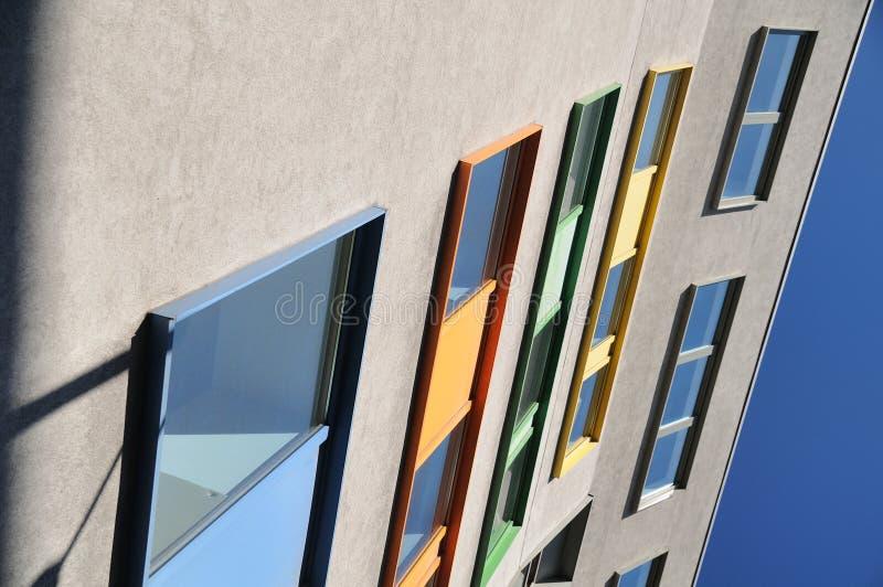 色的窗口 免版税库存照片
