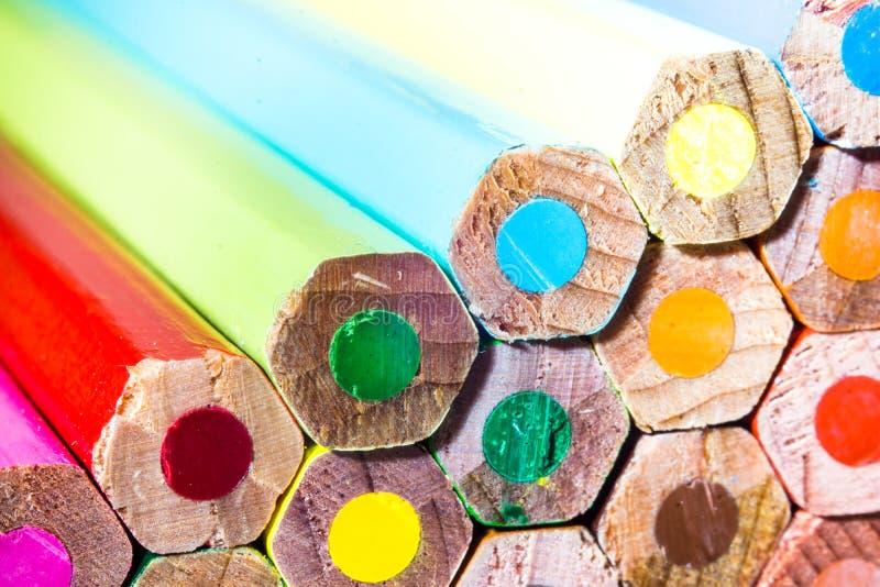色的笔超级宏观射击  库存照片