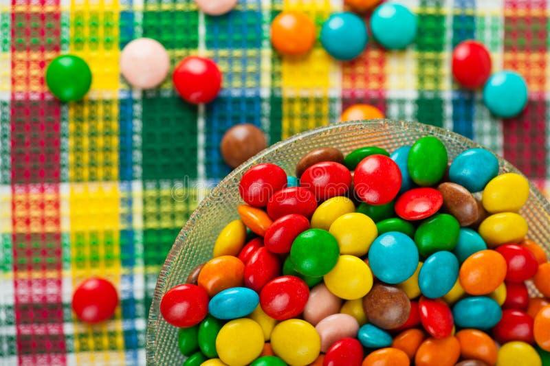 色的糖果巧克力 免版税库存图片