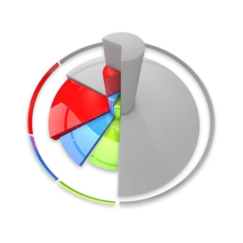 色的绘制细分市场形状 库存例证