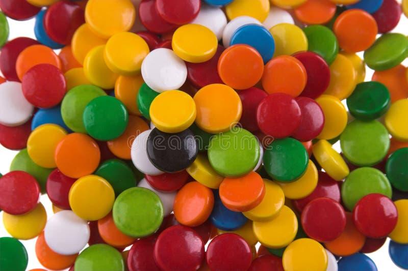 色的药片 免版税库存照片