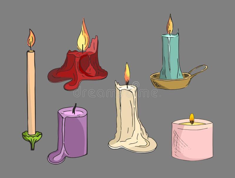 色的蜡烛 库存图片