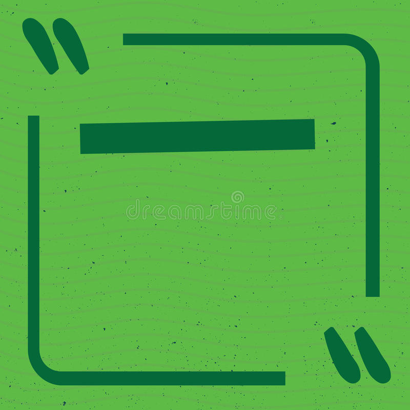 色的行情框架模板被设置的传染媒介例证 与行情标记认为并且谈话 免版税库存图片
