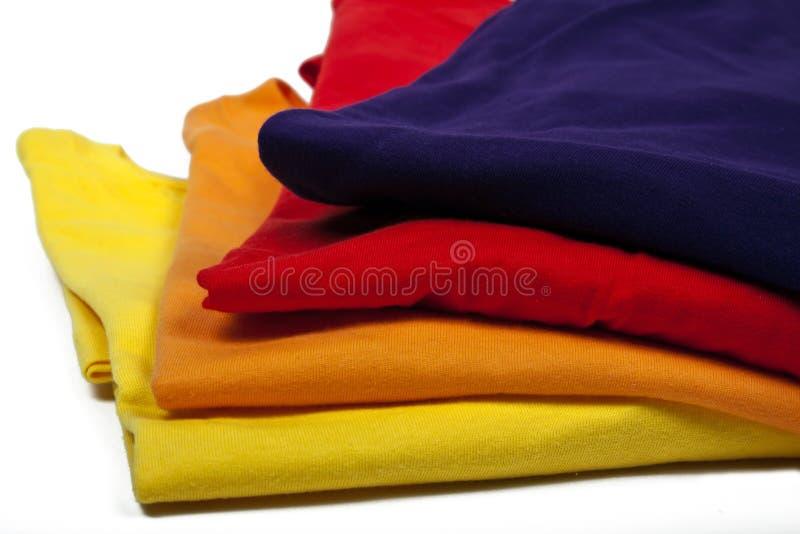 色的衬衣t 免版税库存照片