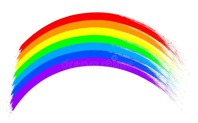 色的被画的彩虹- 库存例证