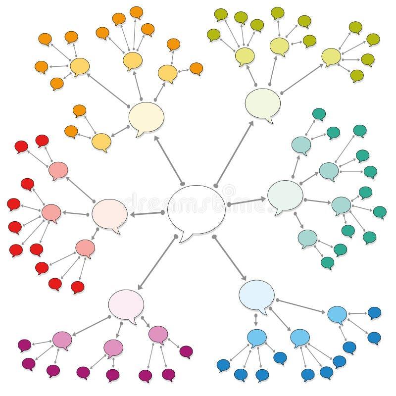 色的讲话起泡网络网样式 皇族释放例证