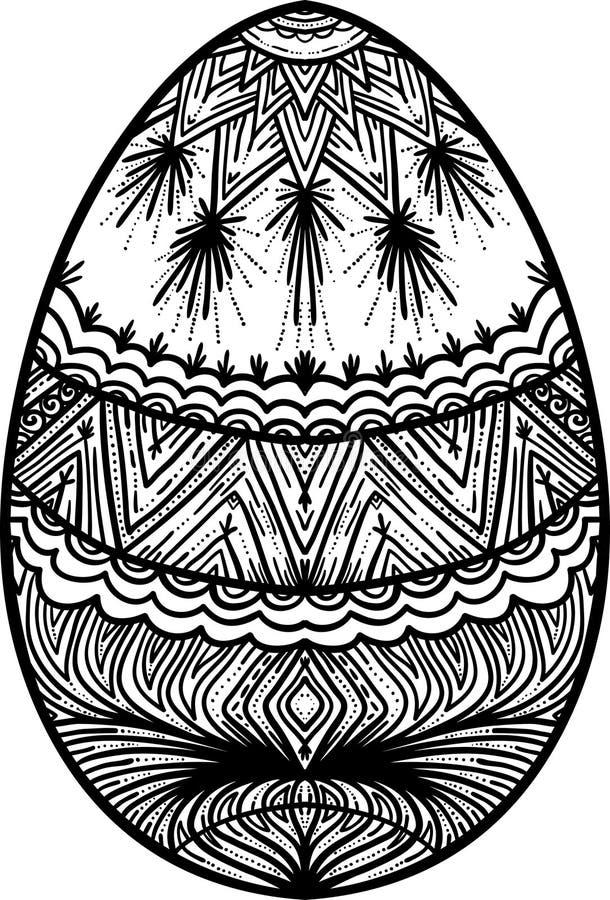 色的设计复活节彩蛋要素eps8格式查出空白桃红色郁金香的向量 皇族释放例证
