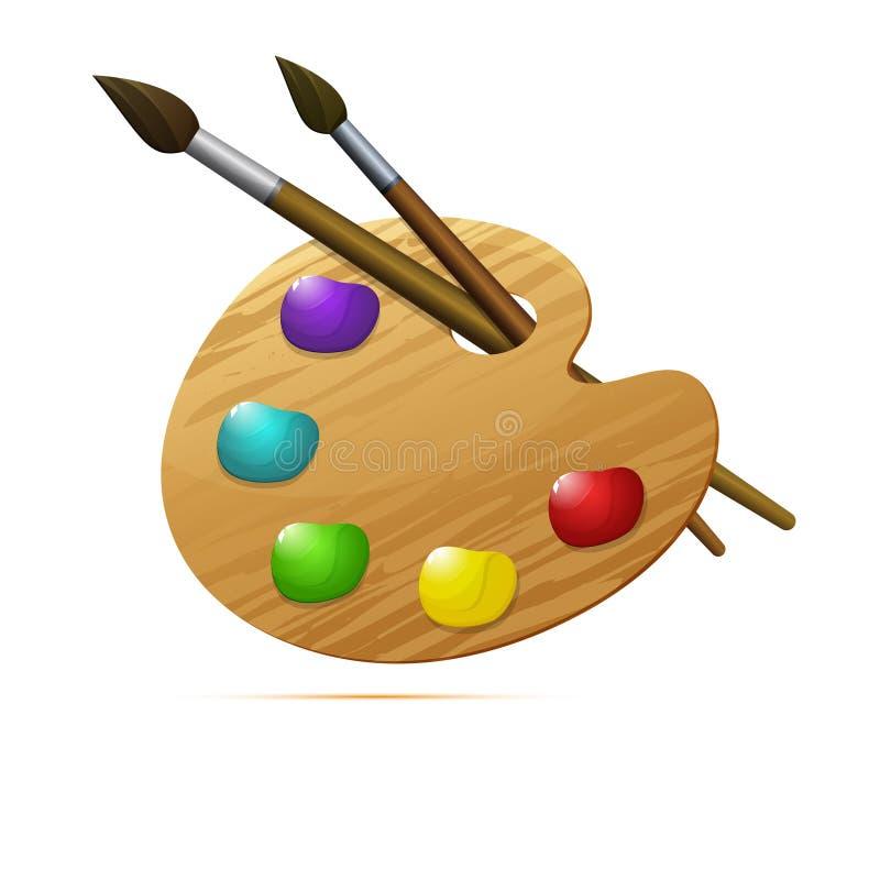 色的象,传染媒介设计 木艺术家` s调色板 皇族释放例证
