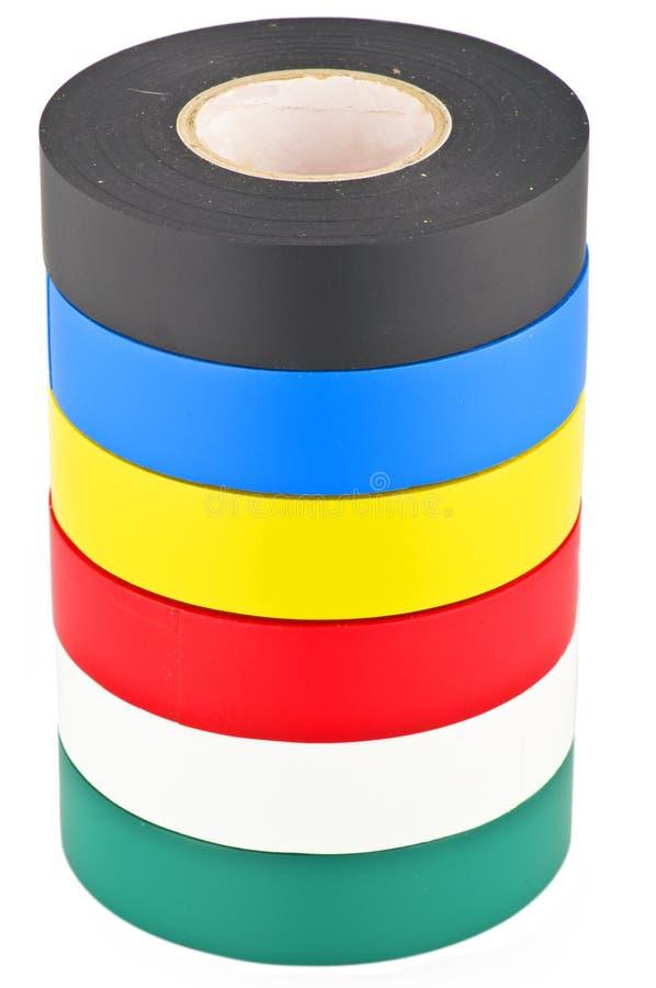 色的输送管磁带 免版税库存图片