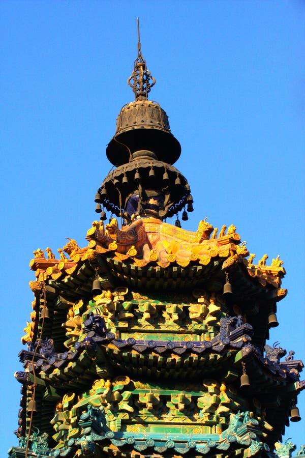 色的釉塔 免版税图库摄影