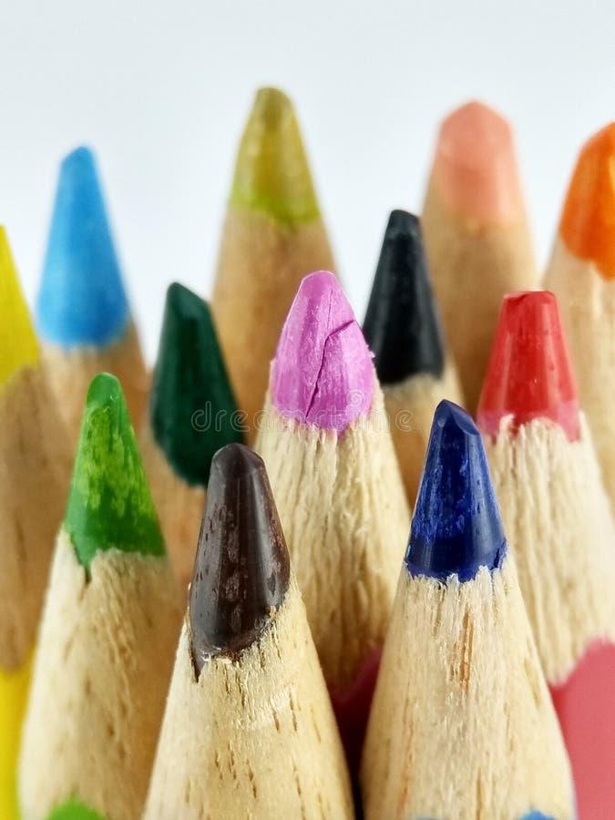 色的铅笔技巧 库存图片