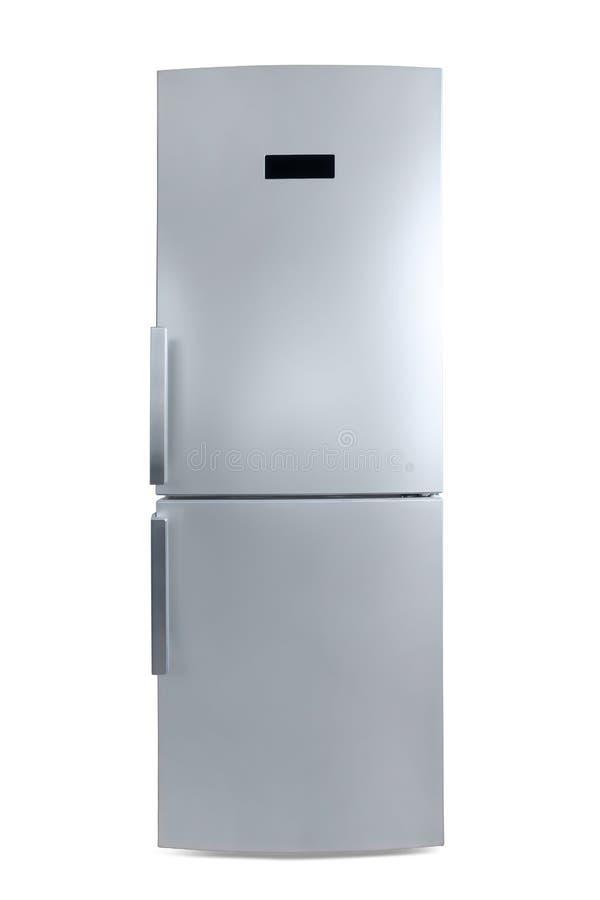 色的银结束了冰箱正面图隔绝与截去p 库存图片