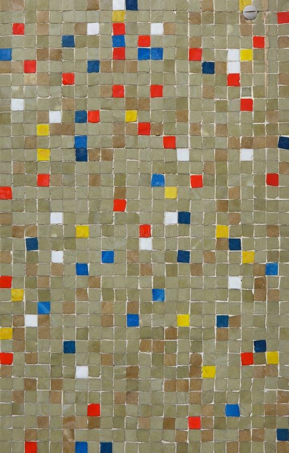 色的锦砖 木背景详细资料老纹理的视窗 库存照片