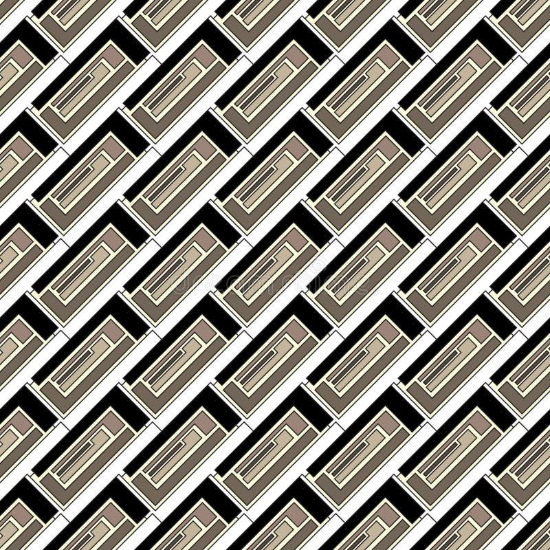 色的长方形的无缝的样式 向量例证