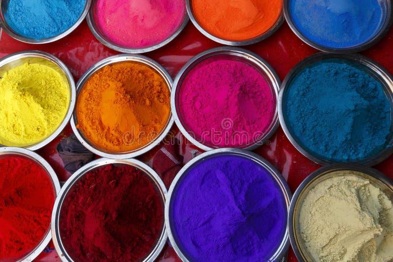 色的颜料-印度 库存图片