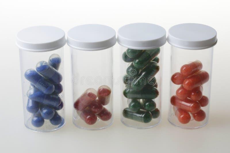 色的医疗药片胶囊  库存图片