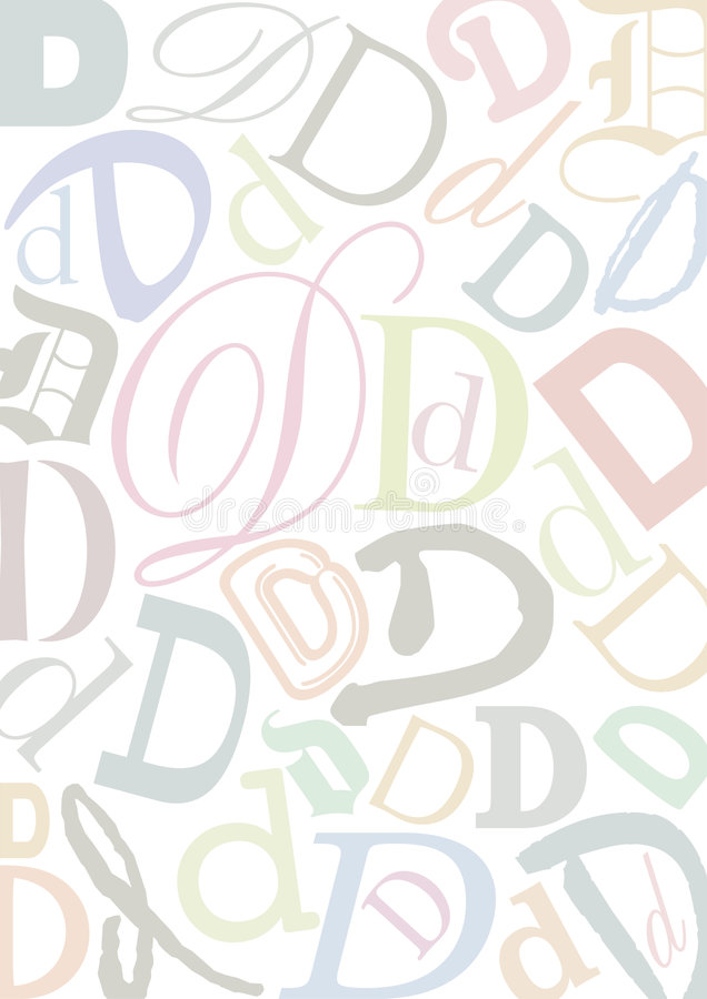 色的d信函pastell 向量例证