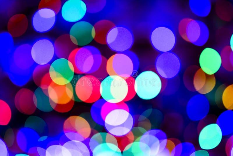 色的defocused光背景 抽象bokeh光 图库摄影