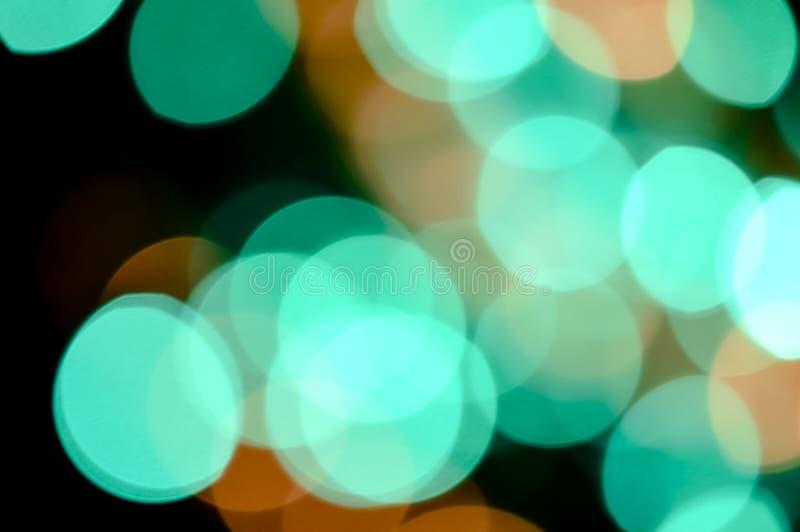 色的defocused光背景 抽象bokeh光 免版税库存照片