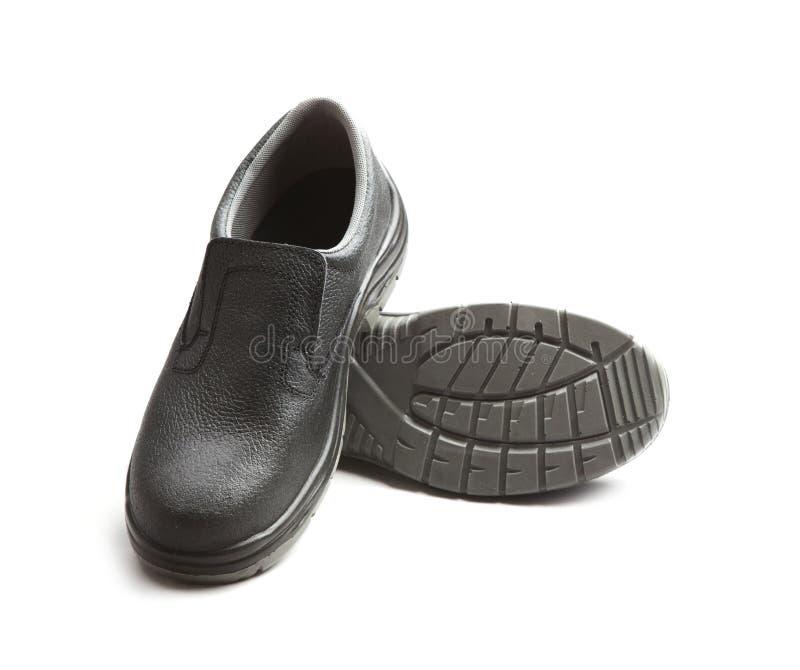 黑色皮鞋 免版税库存图片