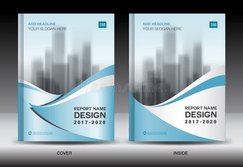 绿色盖子设计,年终报告模板,企业小册子 库存例证