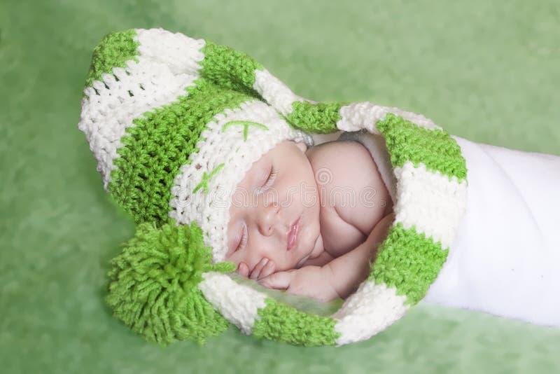 绿色矮子婴孩 库存照片