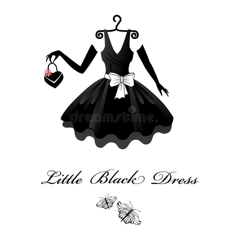 黑色礼服一点 库存例证
