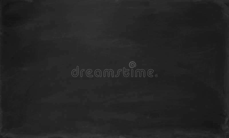 黑色空白黑板 背景和纹理 库存照片
