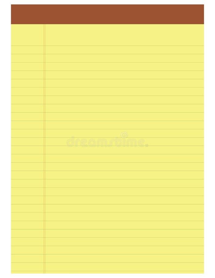 黄色笔记薄 向量例证
