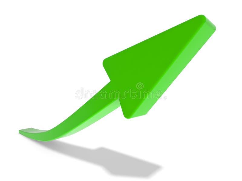 绿色箭头 皇族释放例证