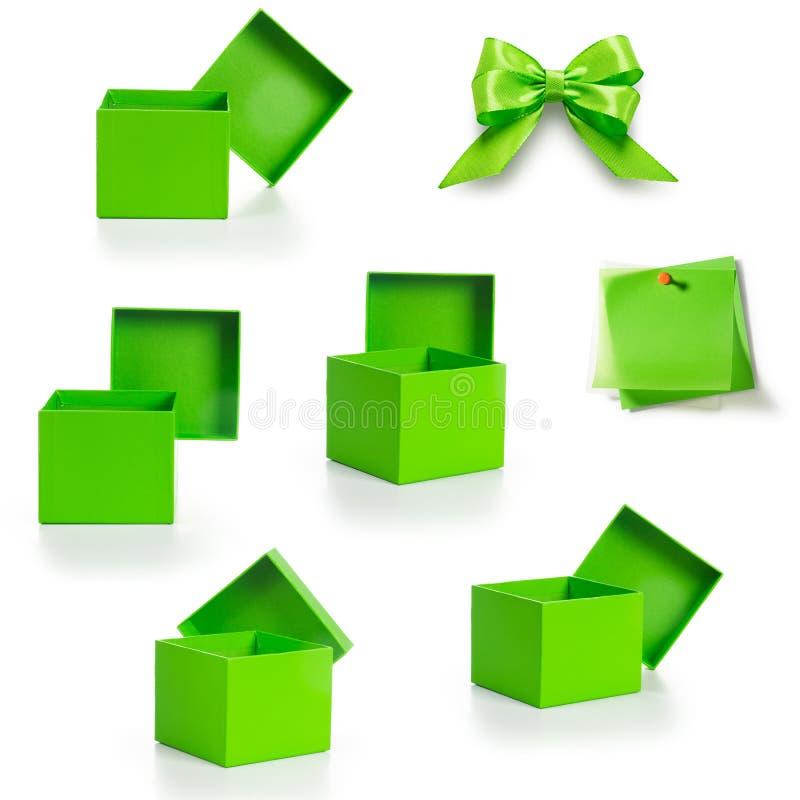 绿色箱子 免版税库存照片