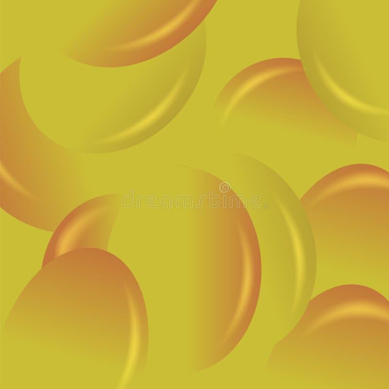 黄色糖果背景 库存例证