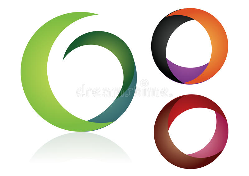 色素徽标 库存例证