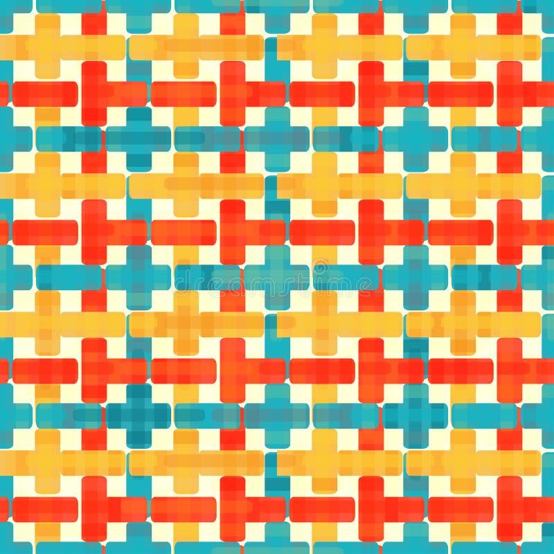 黄色红色和蓝色多角形 向量例证