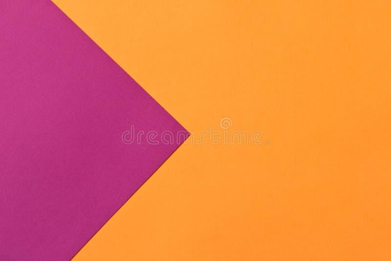 色纸紫色橙色背景纹理  时髦颜色 图库摄影