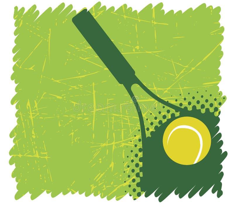 绿色网球背景 库存例证
