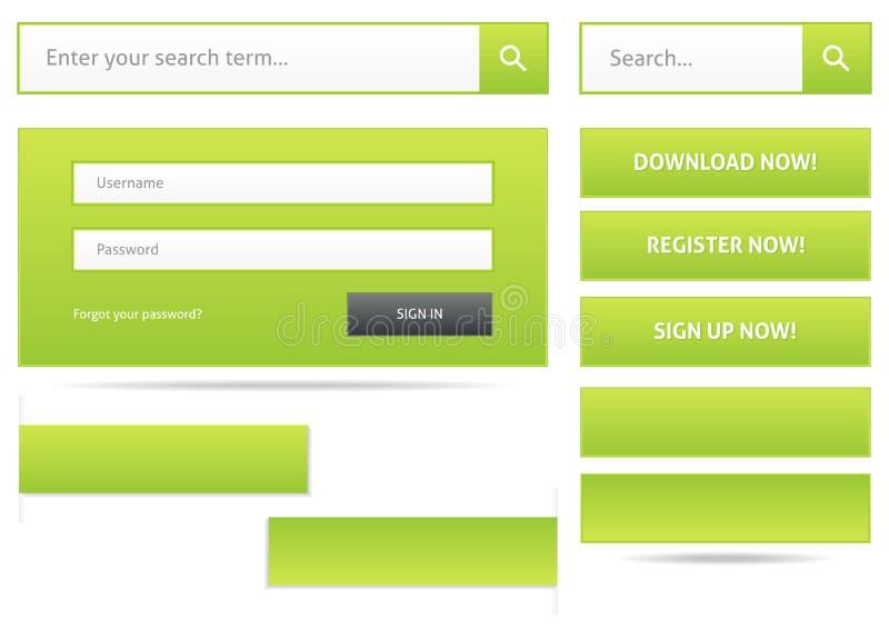 绿色网络设计元素 皇族释放例证