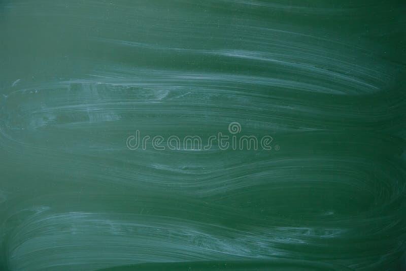 绿色肮脏的黑板背景纹理 免版税图库摄影
