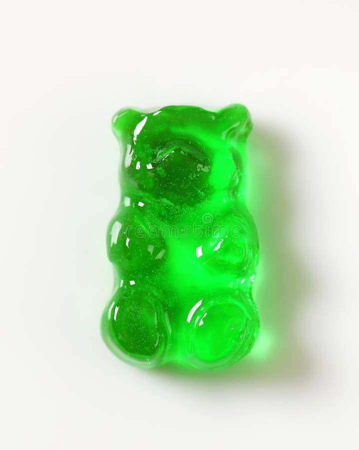 绿色胶粘的熊 库存图片