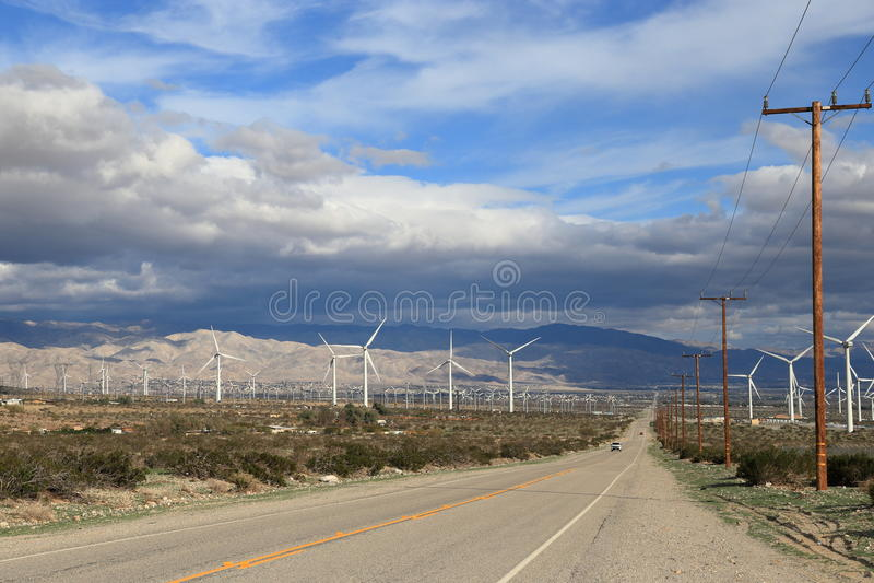 绿色能源农场 图库摄影