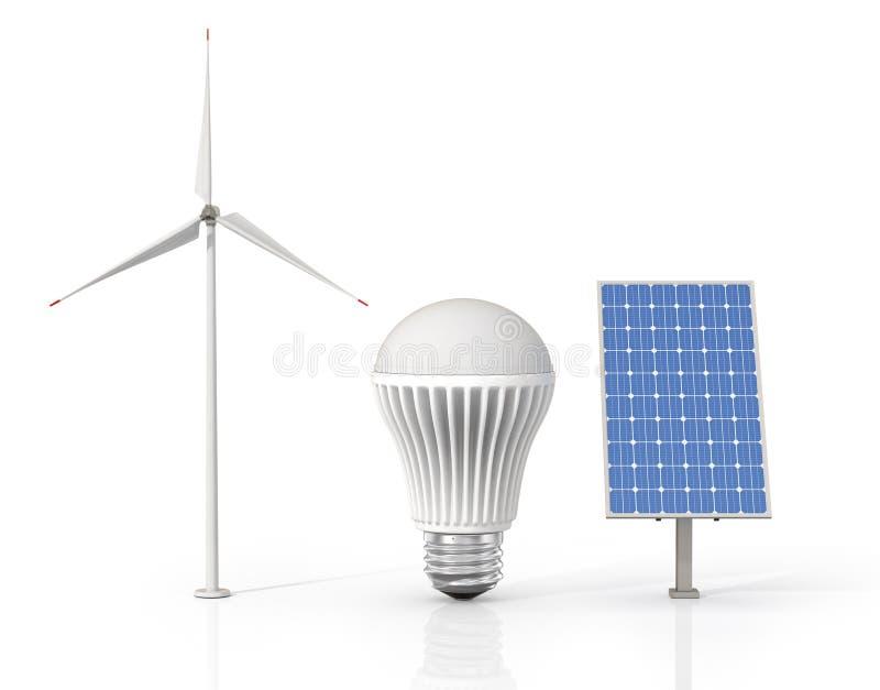Download 绿色能源的概念 库存例证. 插画 包括有 云彩, 除之外, 本质, 概念, 保护, 绿色, 设计, 燃料 - 62532066