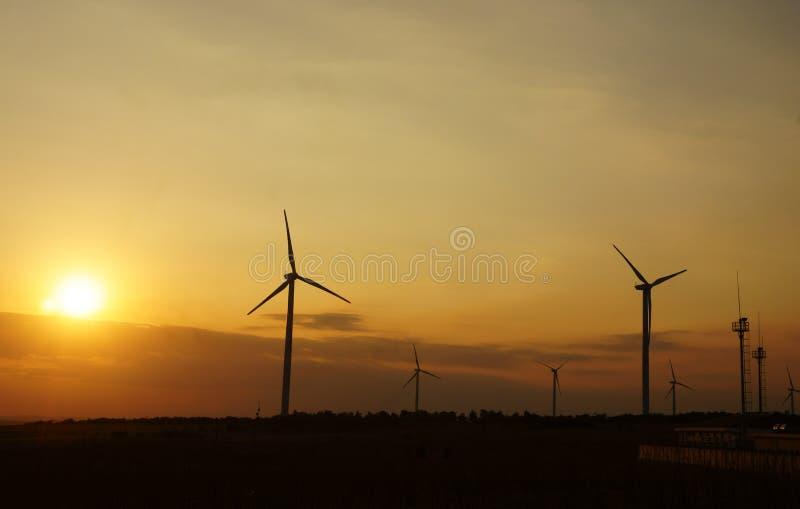 绿色能源,风轮机 库存图片