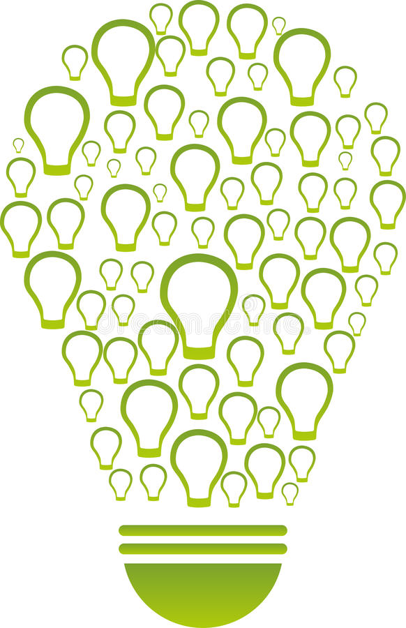 绿色能量概念 向量例证