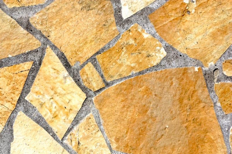 黄色自然石板材 库存图片